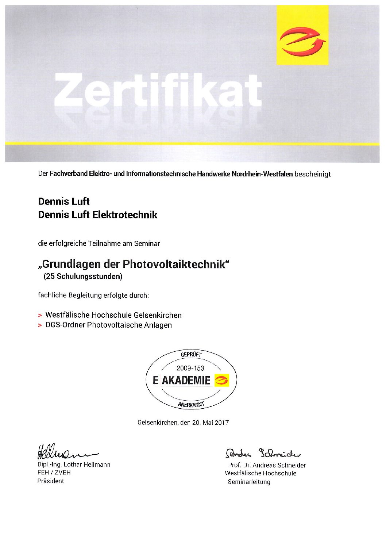 Elektroinstallation Elektrotechnik-Luft